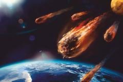 """Фотошпалери """"Падіння астероїдів"""" (#1000016)"""