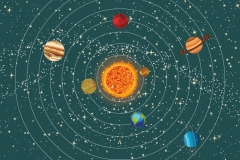 """Фотошпалери """"Сонячна система"""" (#1000021)"""