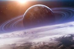 """Фотошпалери """"Всесвіт з планетою"""" (#1000030)"""