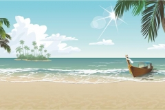 "Фотошпалери ""Пляж"" (#110001)"