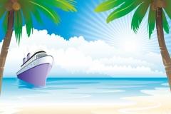 """Фотошпалери """"Корабель в морі"""" (#110002)"""
