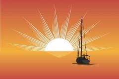 """Фотошпалери """"Корабель в морі"""" (#110003)"""