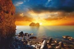 """Фотошпалери """"Схід сонця на морі"""" (#110004)"""