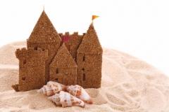"Фотошпалери ""Замок із піску"" (#110023)"