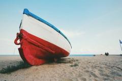 """Фотошпалери """"Човен на березі"""" (#110071)"""