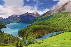 """Фотошпалери """"Озеро в горах"""" (#120015)"""