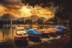 """Фотошпалери """"Човни біля берега"""" (#120067)"""