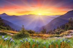 """Фотошпалери """"Гірський схід сонця"""" (#120079)"""