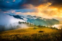 """Фотошпалери """"Гірський ранок"""" (#120085)"""