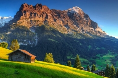 "Фотошпалери ""Будиночок в горах"" (#120090)"