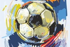 """Фотошпалери """"Футбольний м'яч"""" (#130019)"""