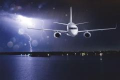 """Фотошпалери """"Літак в небі з грозою"""" (#140008)"""