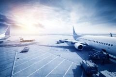 """Фотошпалери """"Літак на злітній смузі"""" (#140025)"""