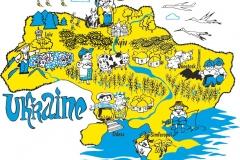 """Фотошпалери """"Карта України"""" (#150011)"""