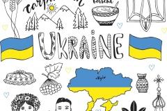 "Фотошпалери ""Символи України"" (#150023)"