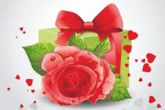 """Фотошпалери """"Троянда і подарунок"""" (#160075)"""