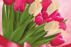 """Фотошпалери """"Букет тюльпанів"""" (#160077)"""