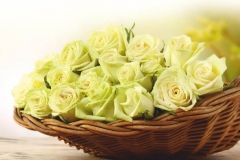 """Фотошпалери """"Троянди в корзині"""" (#160093)"""