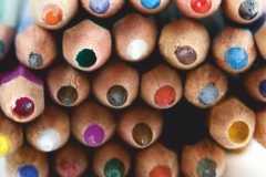"""Фотошпалери """"Кольорові олівці"""" (#10023)"""