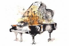 """Фотошпалери """"Фортепіано"""" (#10025)"""