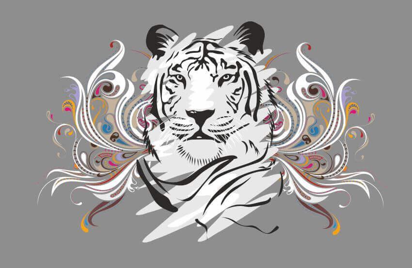 Фотообои с тигром, Абстрактная иллюстрация тигра, Latexdruk, печать на фотообоях, картины на подрамнике, латексная печать, экологическая печать, экологически чистая печать, широкоформатная печать, Украина, Черновцы, латекс-печать, купить, заказать, фотообои, обои, оформление помещений, дизайн помещений, оформление интерьера, печать на фотообои, печать на обоях, дизайнерские обои, печать на ткани, картина на ткани, печать на холсте, картина в комнату, модульные картины, картины из частей, картины на подрамник