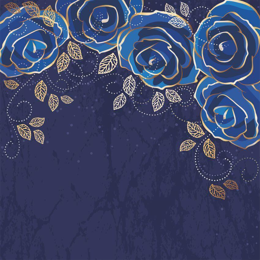 """Фотообои """"Синие розы"""" (# 10163)"""