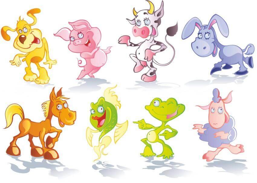 Интерьера смешные, смешные рисунки животных детей