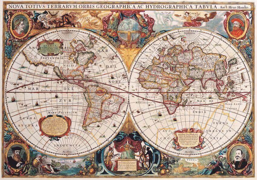 """Фотообои """"Карта мира в ретро стиле"""" (# 90023)"""
