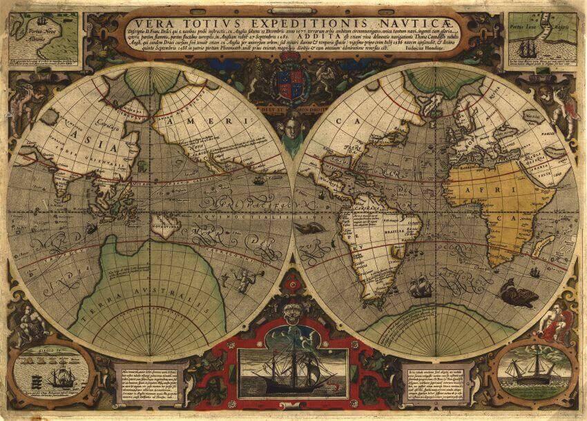 """Фотообои """"Карта мира 1000 года"""" (# 90029)"""