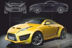 """Фотошпалери """"Yellow car"""" (#20014)"""