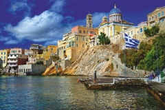 """Фотошпалери """"Грецький пейзаж"""" (#30037)"""