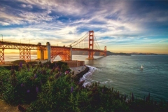 """Фотошпалери """"Міст Золоті Ворота, Сан-Франциско"""" (#30066)"""