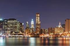 """Фотошпалери """"Панорама нічного міста"""" (#30071)"""