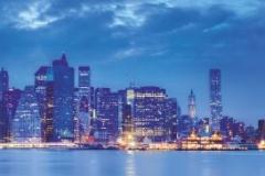 "Фотошпалери ""Нічний Нью Йорк, панорама"" (#30078)"