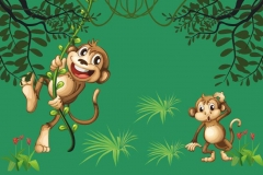 "Фотошпалери ""Мавпочки в джунглях"" (#40011)"