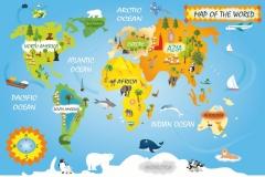 """Фотошпалери """"Карта світу"""" (#40012)"""