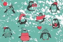 """Фотошпалери """"Пінгвінчики"""" (#40018)"""