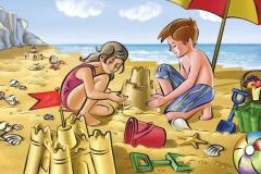 """Фотошпалери """"Діти на пляжі"""" (#40046)"""