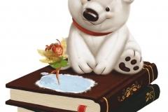 "Фотошпалери ""Ведмедик і книги"" (#40073)"