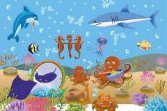 """Фотошпалери """"Підводний світ"""" (#40081)"""