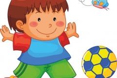 """Фотошпалери """"Хлопчик з м'ячем"""" (#40138)"""