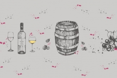 """Фотошпалери """"Бочка і вино"""" (#60002)"""