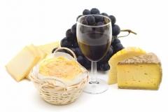 """Фотошпалери """"Сир, вино і виноград"""" (#600103)"""