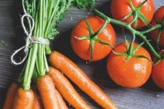 """Фотошпалери """"Помідори і морква"""" (#600113)"""
