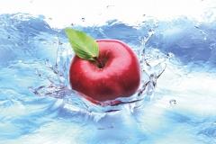 "Фотошпалери ""Яблуко у воді"" (#600134)"