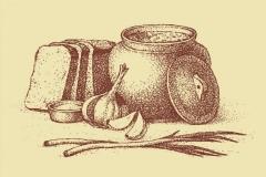 """Фотошпалери """"Часник і хліб"""" (#600155)"""