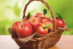 """Фотошпалери """"Яблука у кошику"""" (#60016)"""