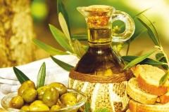 """Фотошпалери """"Оливки і оливкова олія"""" (#60090)"""