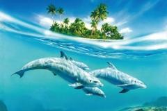 """Фотошпалери """"Дельфіни"""" (#70029)"""