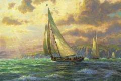 "Фотошпалери ""Морський пейзаж Томаса Кінкейда"" (#80015)"